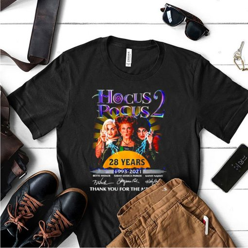 Hocus Pocus 2 28 years 1993 2021 thank you for the memories shirt