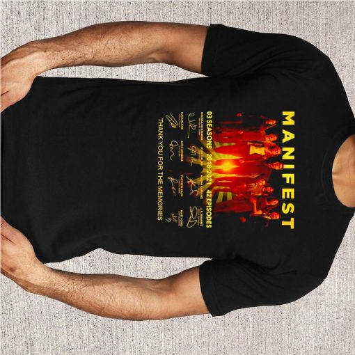 Manifest 03 seasons 2018 2021 thank you for the memories shirt 5