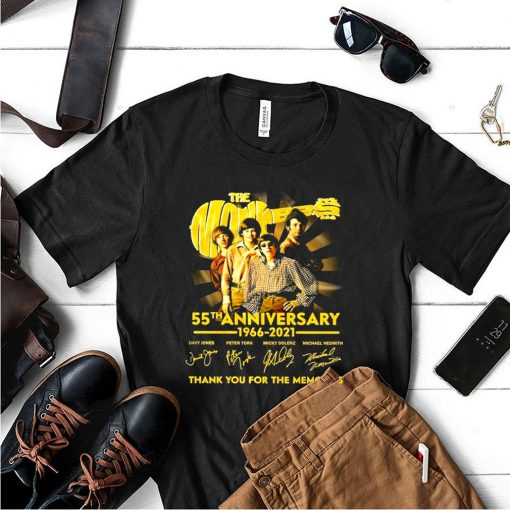 The monkees 55 th anniversary 1966 2021 thank you for the memories shirt