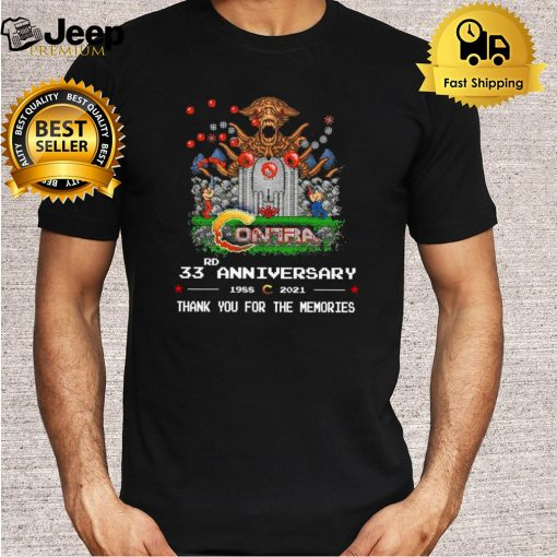 Contra 33rd anniversary 1988 2021 thank you for the memories shirt