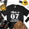 Fourteen Year Old 14th Birthday Awesome Born In 2007 Gift shirt 1
