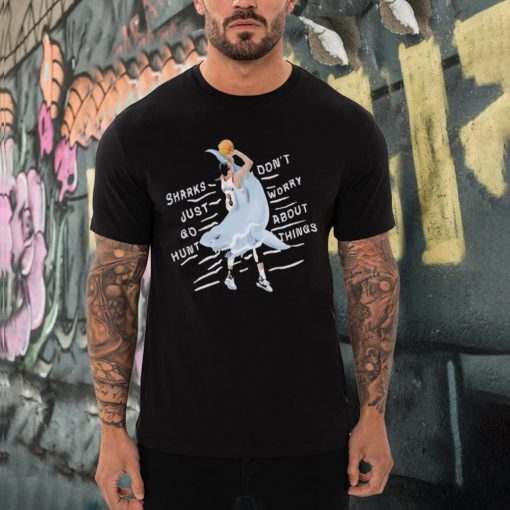 CJ McCollum sharks just go hunt dont worry about things shirt