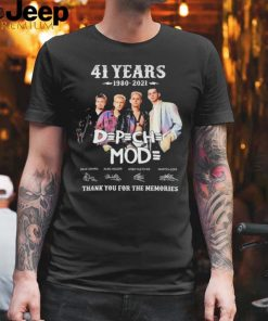 D P CH MOD 41 years 1980 2021 thank you for the memories signatures shirt