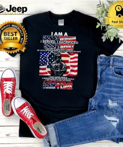 I Am A Grumpy Veteran I Served I Sacrificed I Dont Regret If This Offends You I Dont Care American Flag T hoodie, tank top, sweater