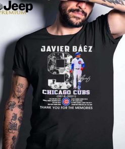 Javier baez chicago cubs 2014 2021 thank you for the memories signatures shirt