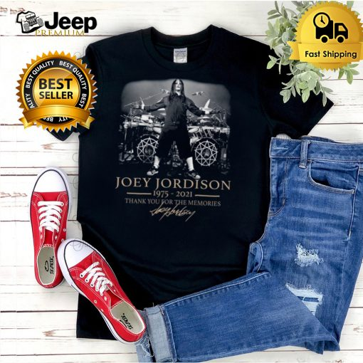 Joey jordison 1975 2021 thank you for the memories hoodie, tank top, sweater