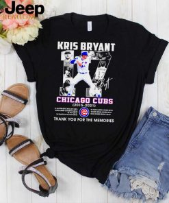 Kris Bryant 17 Chicago Cubs thank you for the memories shirt