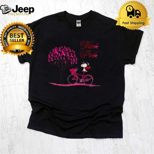Snoopy think pink shirt (1)