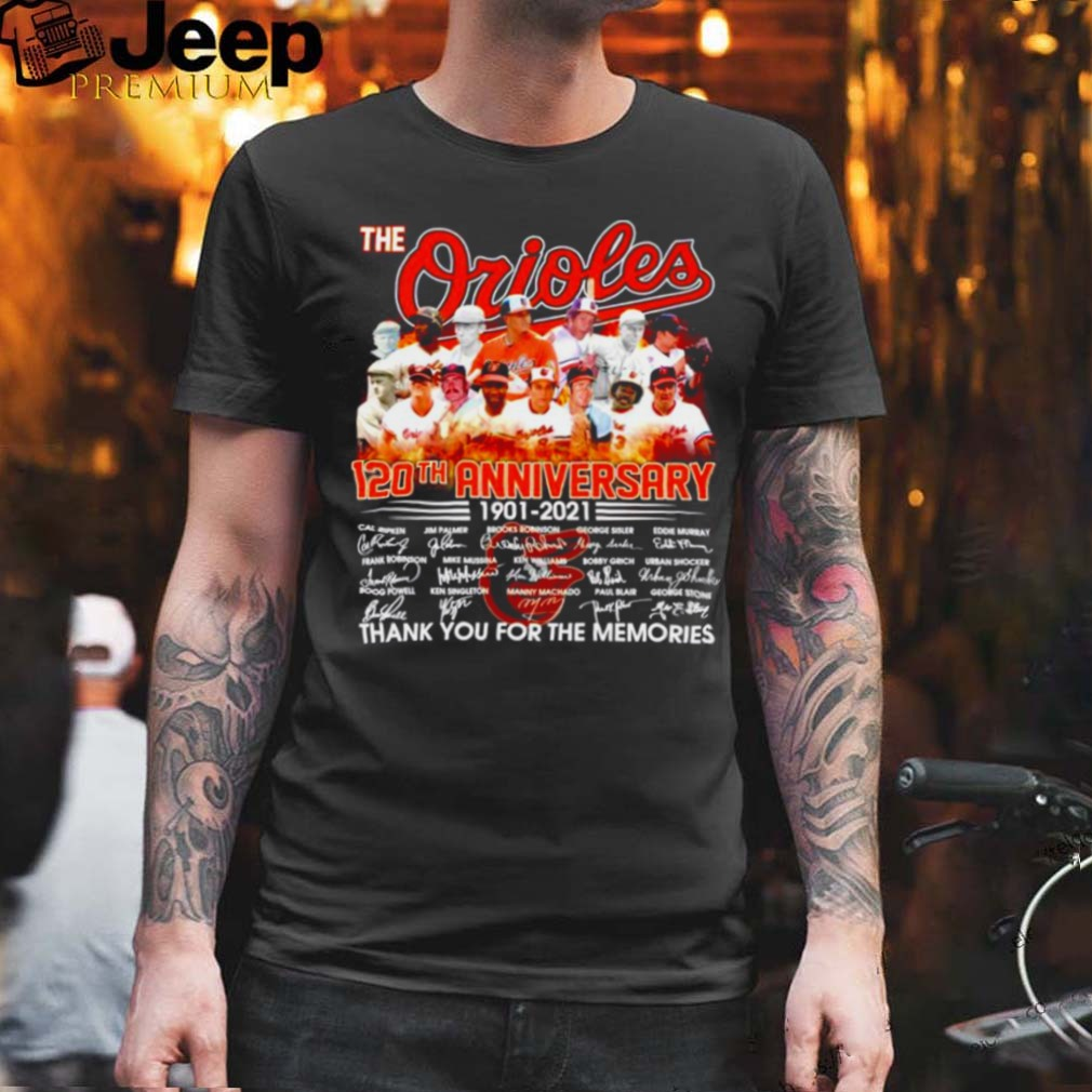 The Orioles 120th anniversary 1901 2021 signatures shirt (1)