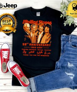The Rolling Stones 59th anniversary 1962 2021 signatures shirt