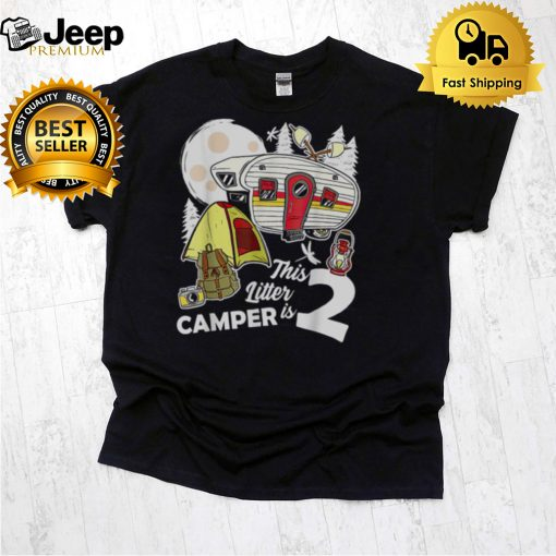This Little Is Camping 2nd Birthday shirt