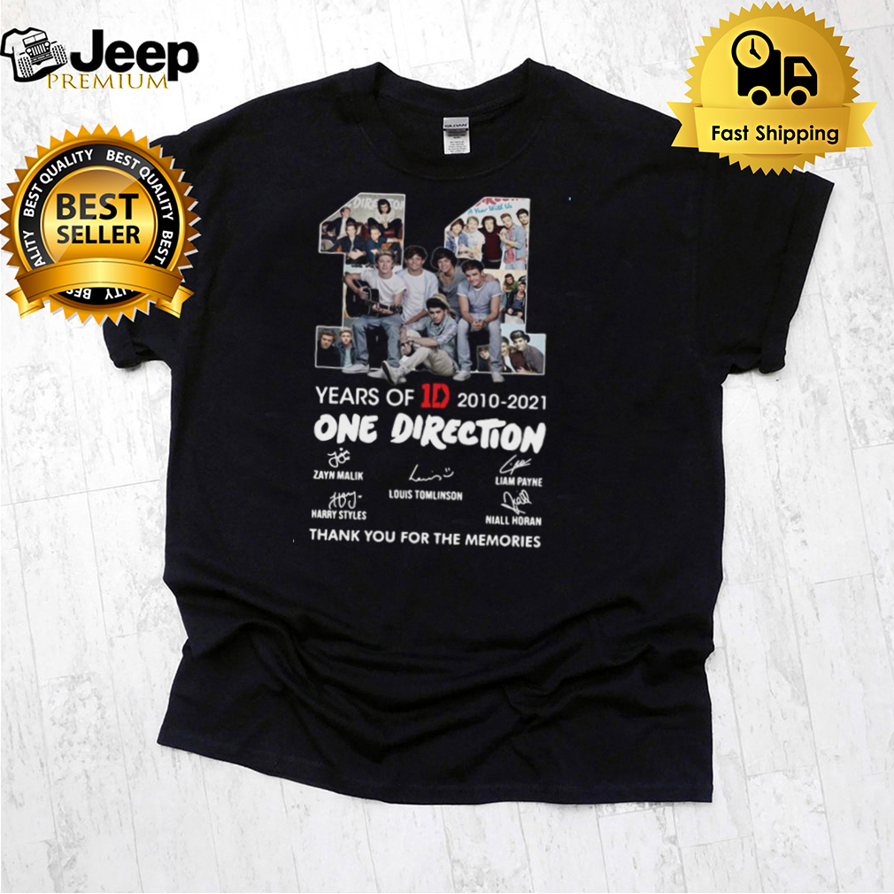 11 years of 1D 2010 2021 One Direction thank you for the memories signatures shirt