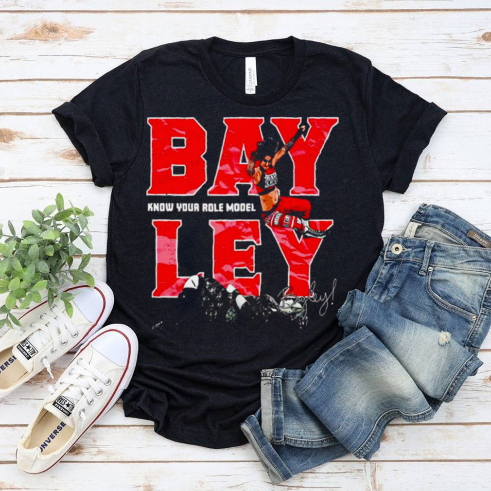 Bayley know your role model signature nice shirt