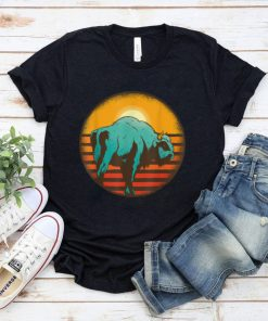 Official Bison Buffaloes Animal Retro Sunset Bison Buffalo Lover T Shirt