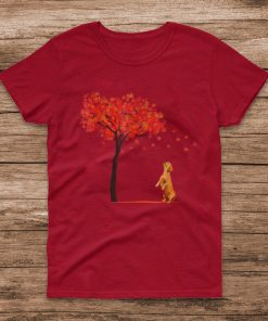 Official Dachshund Maple Tree Thanksgiving Day Cute Dog Doxie Fall T Shirt