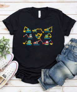 Official Excavator Construction Vehicle Lover Boys Toddlers Excavator T Shirt