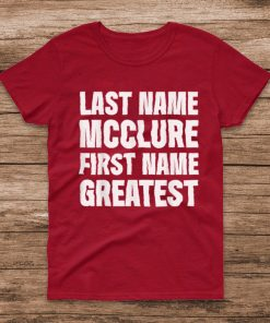 Official Family Surname Mcclure Funny Reunion Last Name Tag T Shirt