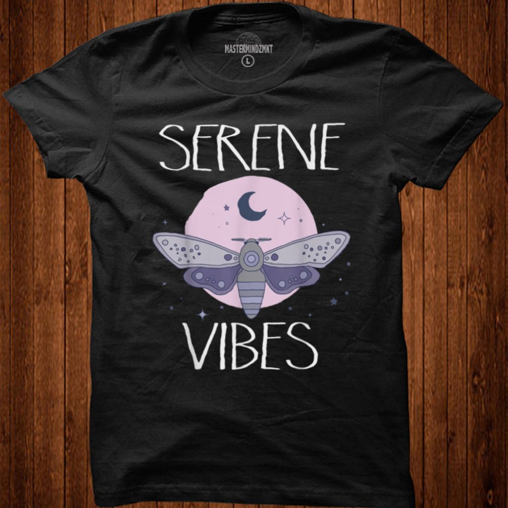 Serene Vibes Pastel Goth Moth Pink Purple Cute Butterfly T Shirt