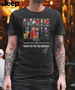 Charlie Watts 1941 2021 thank you for the memories signature shirt