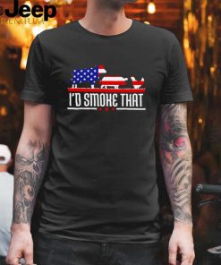 Cow pig and chicken Id smoke that American flag shirt